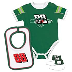 nascar baby clothes 88 Dale Earnhardt Jr Newborn Creeper Bib Booties