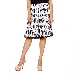 ceil women;s skirt (white&black)