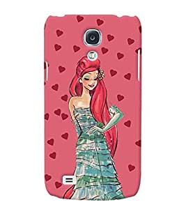 Fuson 3D Printed Girly Designer back case cover for Samsung Galaxy S4 Mini - D4356