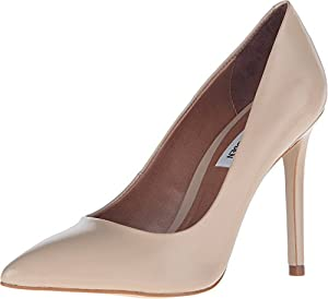Steve Madden Women's Protoo Nude Leather Pump 6.5 M