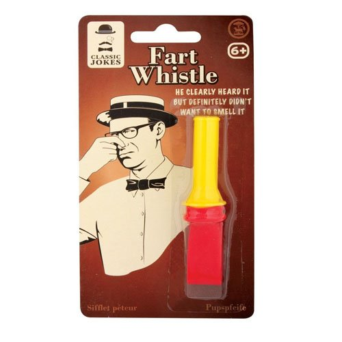 Kid's Children's Small Classic Practical Jokes Fart Whistle Toy