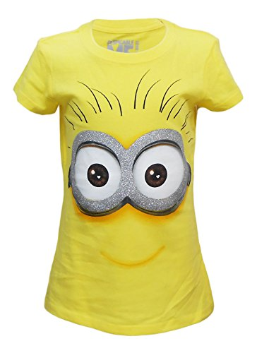 Despicable Me Adorkable Minion Girls Fitted Youth T-Shirt Sizes 4-12