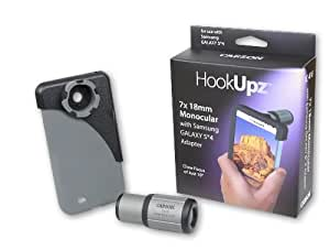 Carson HookUpz Samsung Galaxy S4 Adapter with Close Focus 7x18mm Monocular (IC-418)