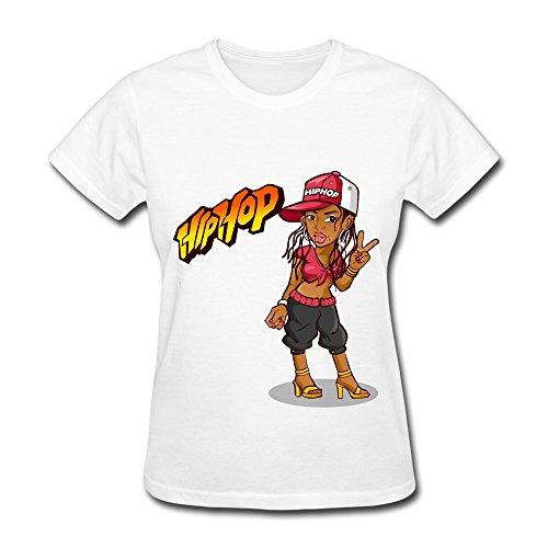 Lady Hip Hop T-Shirt Color White