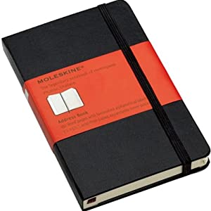 Moleskine Pocket Black Address Book (3.5 x 5.5)