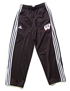 Adidas Wisconsin Badgers Youth 3-Stripe Track Pants by adidas