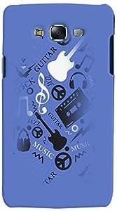 PRINTVISA 3D-SGJ7-D7876 Music Guitar Quotes Case Cover For Samsung Galaxy J7
