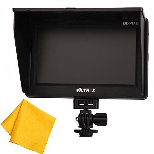 Viltrox DC-70 II 7'' Montieur LCD TFT HD clip- on 1280x800 pixels avec entrée AV/HDMI et sortie HDMI pour Canon Nikon caméra DV