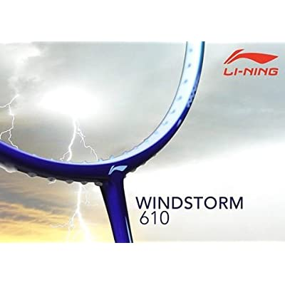 Li-Ning 610 Windstorm Carbon Fiber Badminton Racquet, Size S2 (Purple/Yellow)
