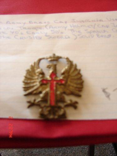 Spanish Army Brass Cap Insignia