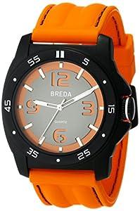 Breda Men's 1630-orange Kevin Thick Bezel Cut Out Dial Watch