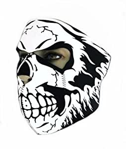 "Cagoule Masque Protection Neoprene ""Electric Skull"" - Taille unique réglable - Airsoft - Paintball - Outdoor - Ski - Snow - Surf - Moto - Biker - Quad"