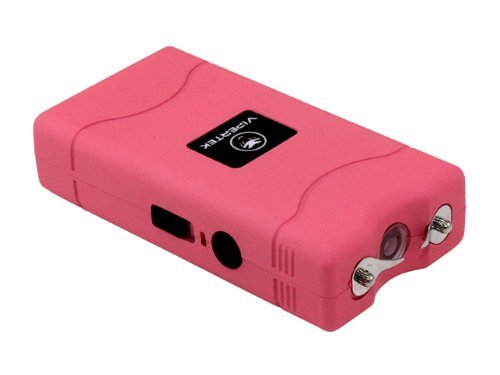 VIPERTEK VTS-880 - 25,000,000 V Mini Stun Gun - Rechargeable with LED Flashlight, Pink