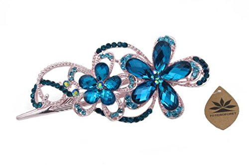 totoroforet-en-forme-de-fleur-de-victoria-retro-style-bronze-rhinestones-strass-cheveux-barrette-gri