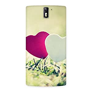 Gorgeous Heart Couple Multicolor Back Case Cover for One Plus One
