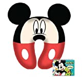 Mickey Mouse Kids Neck Comfy Pillow with Autograph Book Set