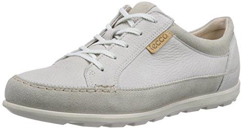 ECCO Cayla Sneaker a Collo Basso, Donna, Bianco(Gravel/Shadow White 58533), 42