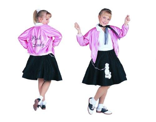 50s Pink Lady - Jacket, Medium Child Costume