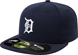 MLB Detroit Tigers Authentic On Field Game 59FIFTY Cap , Navy, 7 1/4