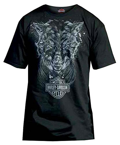 Harley-Davidson Men's T-Shirt, Sketched Wolf Lightweight Graphic Tee, Black (XL)