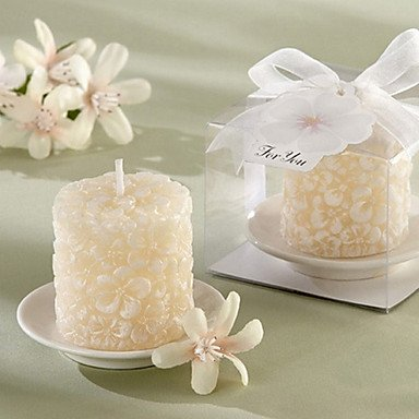 Zcl Plumier Floral-Scented Candle With Ceramic Candle Holder