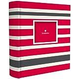 Semikolon 200 Pocket Bound Photo Album, Red/Grey Stripes (0427804)