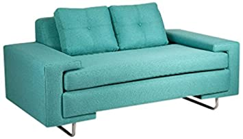 Loni M. Designs Rico Love Seat - Teal