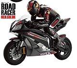 ラジコンバイク 全長41cmのド迫力!大型バイク ラジコン 超実車感覚のハングオンを再現!!! サスペンション ブラック