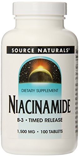 Source Naturals Niacinamide, 1500Mg, 100 Count (Pack Of 12)
