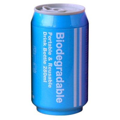 Biodegradable+バイオディグレーダブル+ポータブル+ドリンクボトル+[+ブルー+]