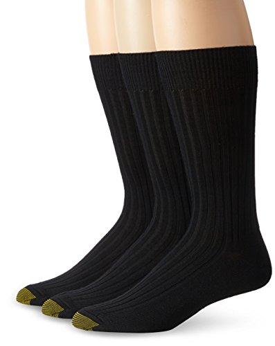 Gold Toe Men's Windsor Wool Dress Crew Socks (3-Pack)