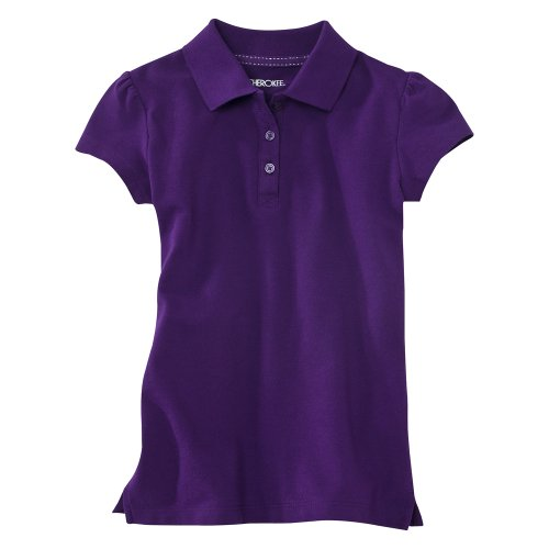 Cherokee® Girls' Short-Sleeve Polo - Purple