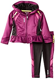 Reebok Baby-Girls Infant Mapped Out Peplum Set, Phlox Pink, 24 Months