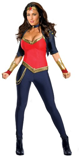 Secret Wishes Wonder Woman Costume, Pants, Top, Accessories, S to XL