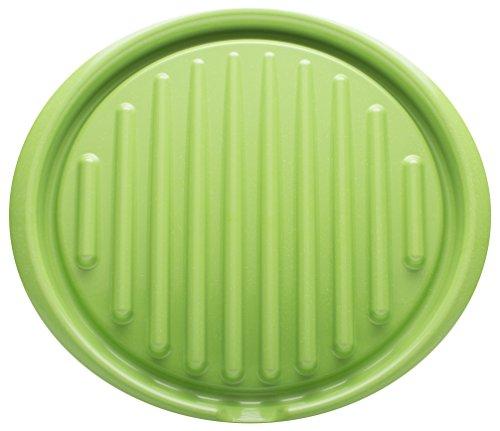 Zak Designs Zakwave Microwave-Safe Microwave Bacon Tray, Palm Green
