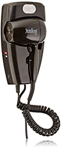 ProVersa JWM8CB Wall Mount Hair Dryer with LED Night Light and 2-Speed and Heat Settings, 1600-Watts, Black Finish
