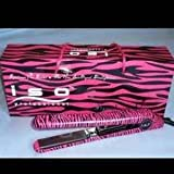 Iso Professional Flat Iron Spectrum Pro Collection Pink Zebra