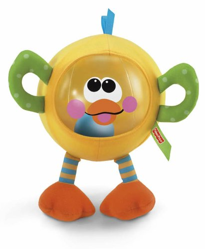 Fisher-Price Go Baby Go! Shake and Chime Ducky Ball - 1