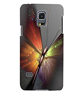 ColourCraft Amazing Butterfly Design Back Case Cover for SAMSUNG GALAXY S5 MINI