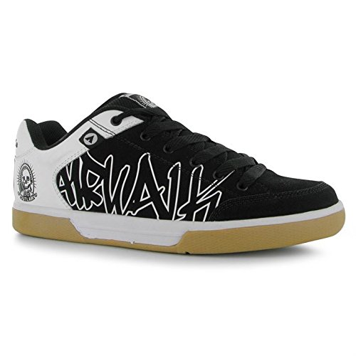 airwalk-outlaw-mens-black-white-casual-lace-up-skate-trainers-uk-11-eu-46