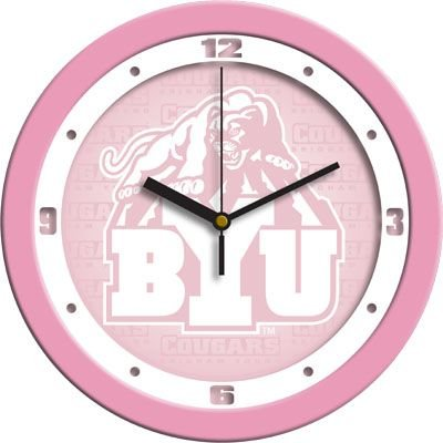 Brigham Young Cougars BYU NCAA 12in Pink Wall Clock