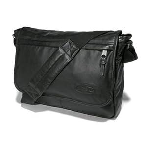 Eastpak Unisex Delegate Shoulderbag - Black Leather EK076762