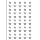 Ace Label 6011AL Teacher Star School Stickers, 1/2-Inch, Silver, 8 Sheets