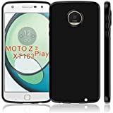 Motorola Moto Z2 Play, Back Cover, Premium Real Perfect Fit Hybrid (PUDDING) Matte Finish Soft Silicon (Black) Back Case Cover