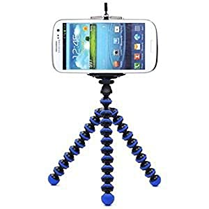 Case Star Octopus Style Portable and adjustable Tripod Stand Holder for iPhone, Cellphone ,Camera and Case Star Cellphone Bag-Blue and Black