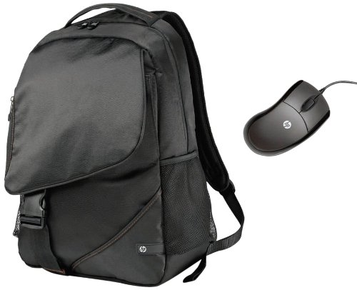 HP WW553AA Zaino Notebook Backpack Case per Notebook Fino a 43.9 cm, Abbinato con Mouse Ottico