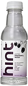 Hint Premium Blackberry Essence Water, 16 Ounce Bottles (Pack of 12)
