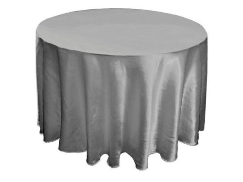 "90"" Satin Round Tablecloths Wedding Table Linens Decor"
