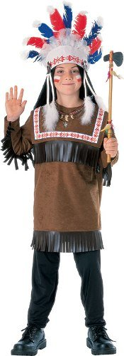 Children Costume Boys NEW Chief Warrior Indian Outfit L Boys Large (8-10 years)