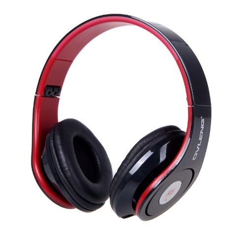 Andoer Ovleng X8 Foldable 3.5Mm Audio Cable Wired Soft Earmuffs And Adjustable Hinges Headphone Headset With Mic For Iphone Samsung Cell Phone (Black)